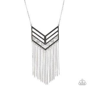 Alpha Attitude Silver Necklace/ Earrings Set